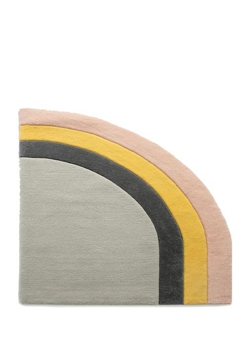 Arc Geometrik Formlu Yeni Zellanda Yünü Halı