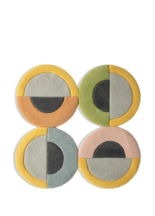 Minion Geometrik Formlu Yeni Zellanda Yünü Halı