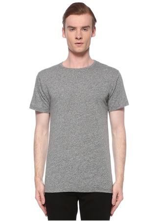John Elliot Erkek Gri Bisiklet Yak Nopeli Basic T-shirt M EU male