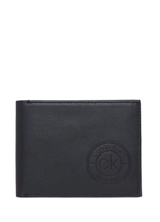 Calvin Klein Erkek Siyah Logo Detaylı Deri Cüzdan EU male Standart