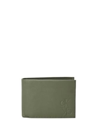 Calvin Klein Erkek Haki Logolu Deri Cüzdan Yeşil EU male Standart