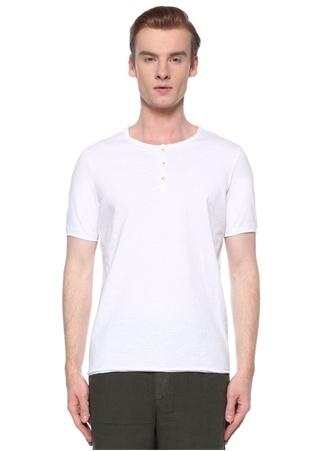 Alpha Studio Erkek Beyaz Yakası Düğmeli Basic T-shirt 50 IT male
