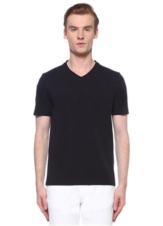 Alpha Studio Erkek Lacivert V Yaka Basic T-shirt 56 IT male