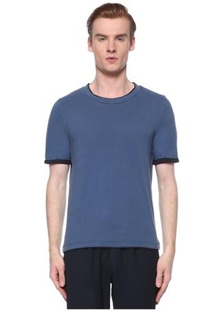 Alpha Studio Erkek Mavi Siyah Basic T-shirt 58 IT male