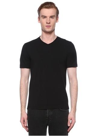 Alpha Studio Erkek Siyah V Yaka Basic T-shirt 54 IT male