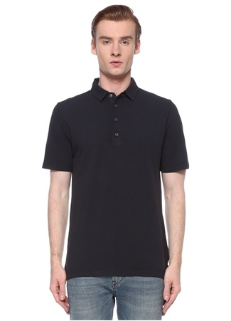 Alpha Studio Erkek Lacivert Polo Yaka T-shirt Mavi 48 IT male
