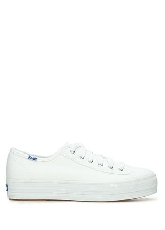 KEDS Kadın Beyaz Kanvas Sneaker 37 EU female