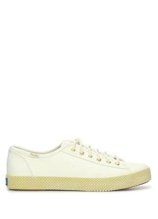 KEDS Kadın Beyaz Gold Doku Detaylı Kanvas Sneaker Gri 39 EU female