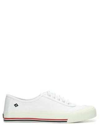 Sperry Top-Sider Kadın Crest Edge Beyaz Logolu Kanvas Ayakkabı 39.5 EU female