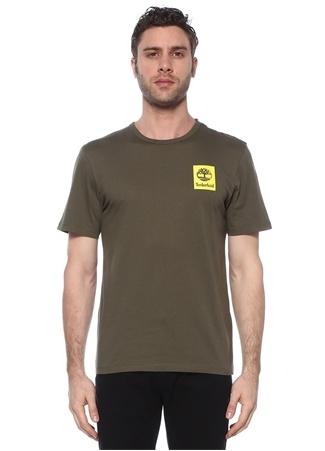 Timberland Erkek SS Back Logo Camo Yeşil Baskılı T-shirt XL EU male