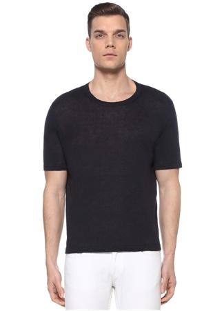Alfredo Erkek Lacivert Baskı Detaylı T-shirt Mavi XL EU male