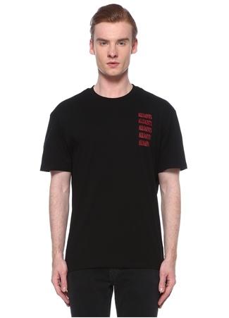 Allsaints Erkek Titans Siyah Logo Baskılı T-shirt XL EU male