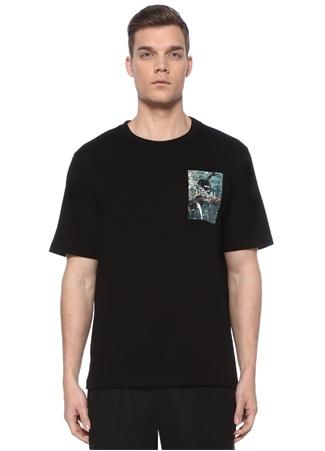 Juun.J Erkek Siyah Baskı Detaylı T-shirt 48 IT male
