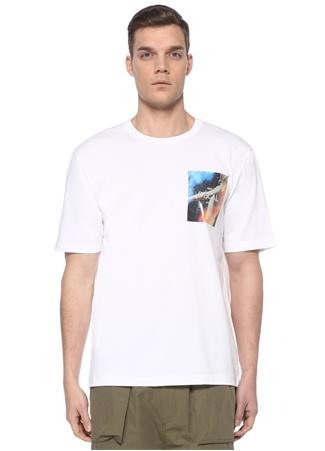 Juun.J Erkek Beyaz Baskı Detaylı T-shirt 48 IT male
