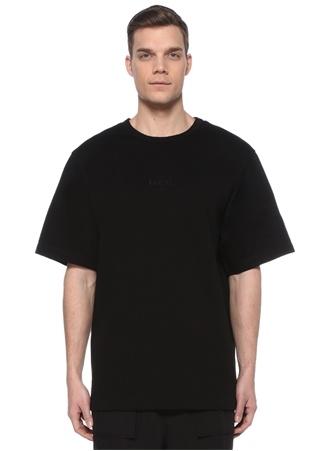 Juun.J Erkek Siyah Nakış Detaylı T-shirt 48 IT male