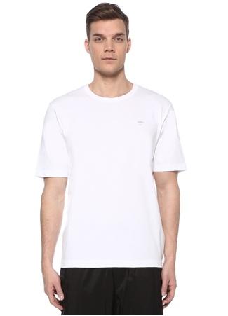 Juun.J Erkek Beyaz Logo Baskılı T-shirt 48 IT male