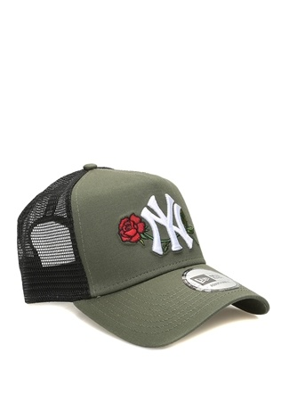 New Era Erkek York Yankees Haki Nakışlı Şapka Yeşil EU male Standart