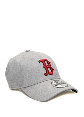 New Era Erkek Boston Gri Nakışlı Şapka EU male Standart