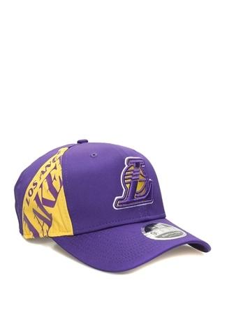 New Era Erkek Los Angeles Lakers Mor Nakışlı Şapka Mavi SM EU male
