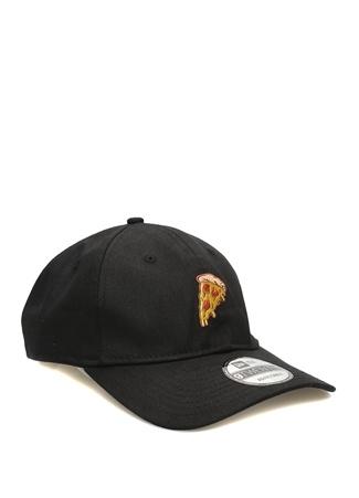 New Era Erkek Siyah Pizza Nakışlı Şapka EU male Standart