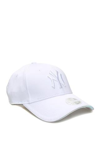New Era Kadın York Yankees Beyaz Nakışlı Şapka EU female Standart