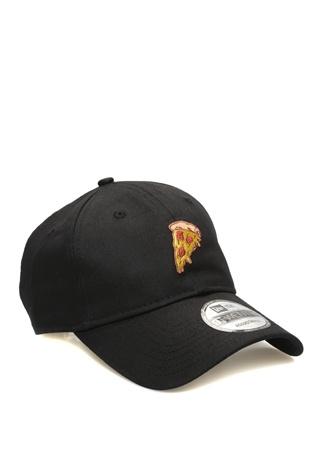 New Era Kadın Siyah Pizza Nakışlı Şapka EU female Standart