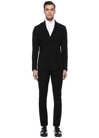 Palzileri Lab Erkek Siyah Kırlangıç Yaka Yün Takım Elbise 50 IT male