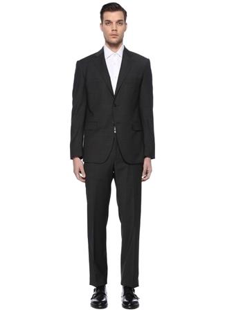 Neutra Querini (Dei Filzi) Erkek Drop 7 Gri Mikro Desenli Yün Takım Elbise 52 IT male