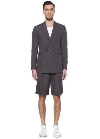Pal Zileri Erkek Drop 8 Gri Kırlangıç Yaka Takım Elbise 48 IT male