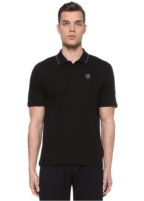 Puma Siyah ERKEK Scuderia Ferrari Siyah Polo Yaka T-shirt ...