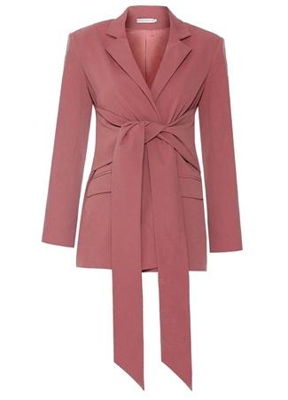 Muse For All Kadın Pembe Bağlama Detaylı Ceket Bordo 34 EU