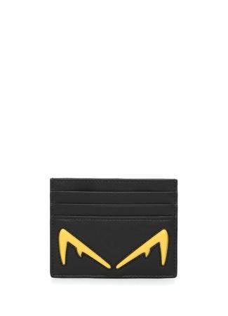 Fendi Erkek Siyah Logo Kabartmalı Deri Kartlık EU male Standart
