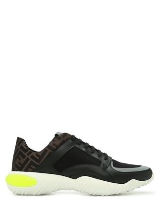 Fendi Erkek Siyah Logo Jakar Detaylı Sneaker 8.5 US male