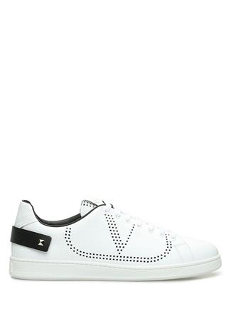Valentino Garavani Erkek Vring Beyaz Sneaker Siyah 44 EU male