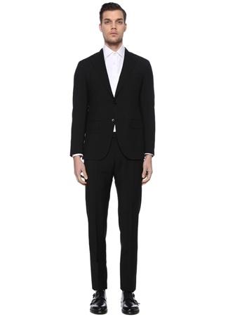 Caruso Erkek Drop 8 Siyah Yün Takım Elbise 54 IT male