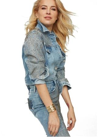 Deep Six Jeans Kadın Mavi Troklu İngiliz Yaka Ceket L EU female