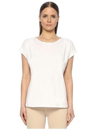 Network Kadın Basic Fit Beyaz Bisiklet Yaka T-Shirt L EU