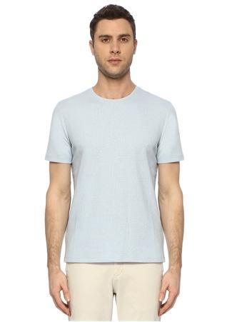 Network Erkek Slim Fit Mavi Desenli T-shirt EU male
