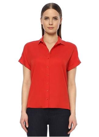Network Kadın Regular Fit Kırmızı Kısa Kol Gömlek M EU female
