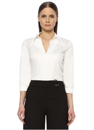 Network Kadın Regular Fit Beyaz Truvakar Kol Bluz M EU female