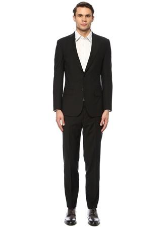 Network Erkek Slim Fit Siyah Takım Elbise 48-6N EU male