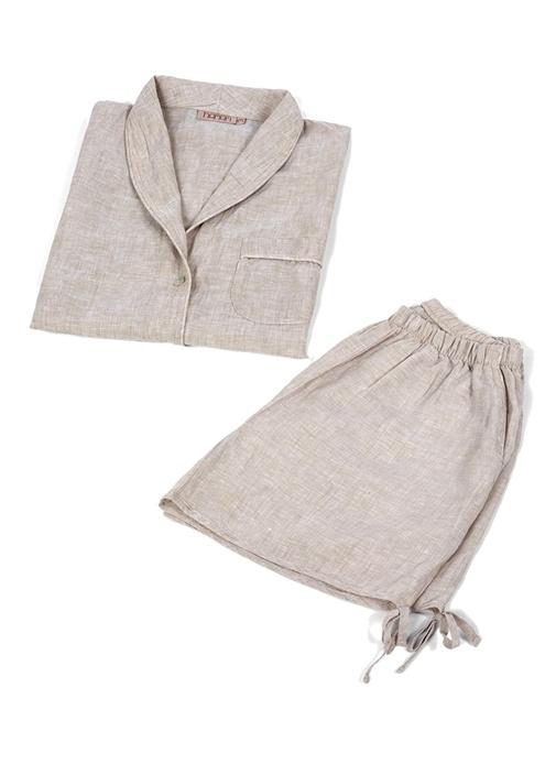 Grain Vizon Kadın Keten Pijama Seti
