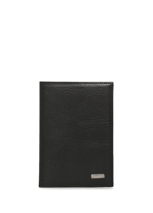 Siyah Logolu Erkek Deri Pasaportluk