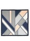 Geometrik Desenli Twill İpek 90x90 cm Kadın Eşarp