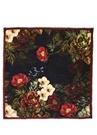 Çiçek Desenli 140x140 cm Kadın Yün Şal