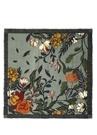 Çiçekli Püsküllü Yün 140x140 cm Kadın Şal