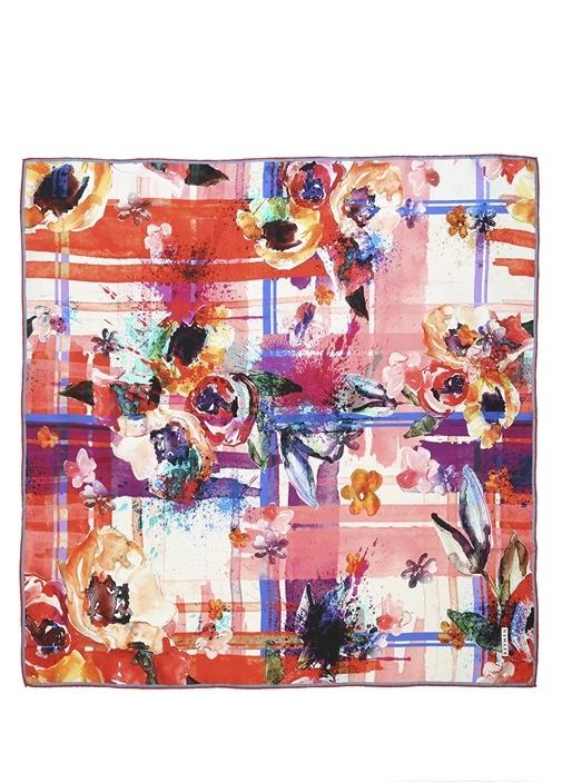 Beymen Çiçek Desenli İpek Twill 90×90 Cm Kadıneşarp – 169.0 TL