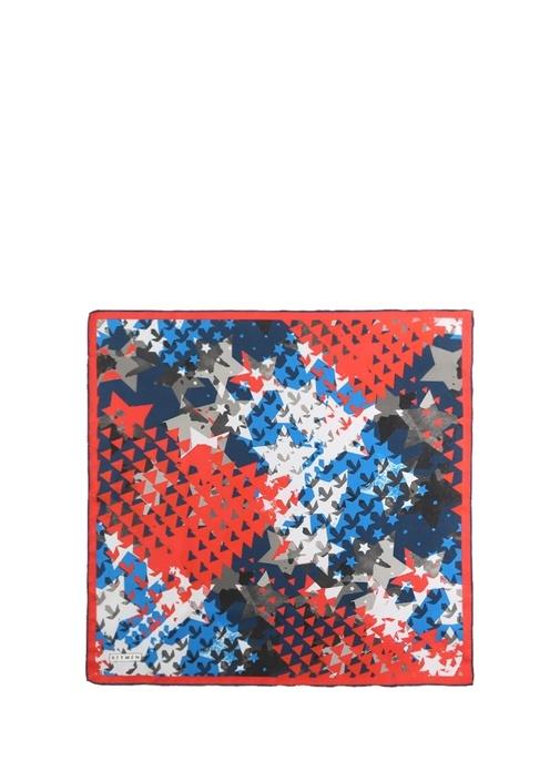 Beymen Yıldız Desenli İpek Twill 50×50 Cm Kadın Fular 160.0 Tl