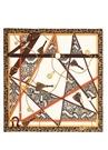 Yılan Derisi Ve Zincir Desenli Kadın İpek Eşarp