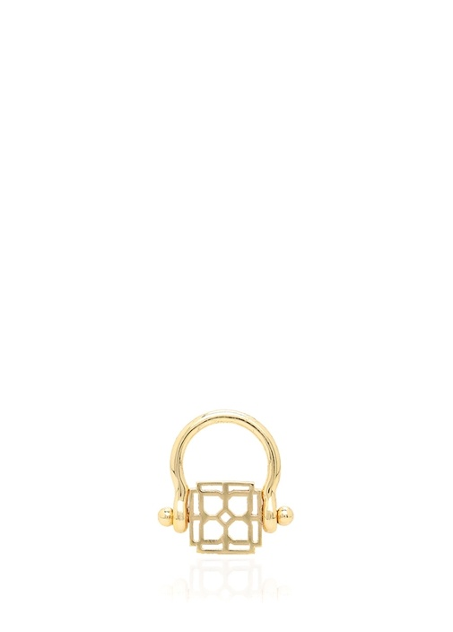 Gold Logo Formlu Eşarp Yüzüğü